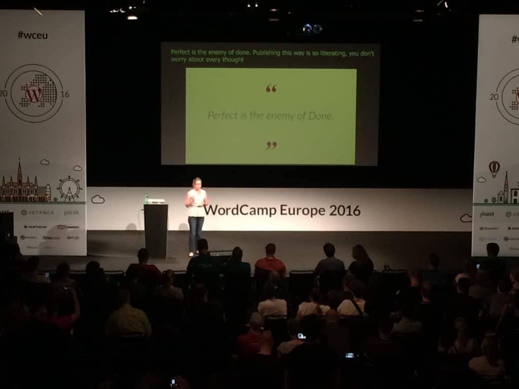 perfect is the enemy of done - Angela Badgley WCEU